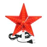 Верхушка на елку светодиодная для дома Vegas Звезда 30 красных LED, 3м, 20х20 см, 220V 55086