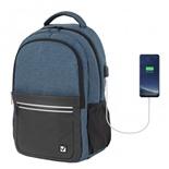 "Рюкзак для ноутбука 15"" с USB Brauberg Urban Denver 22 л 229893"