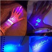 Шпионская ручка пишущая невидимыми чернилами и для рисования светом на световых планшетов
