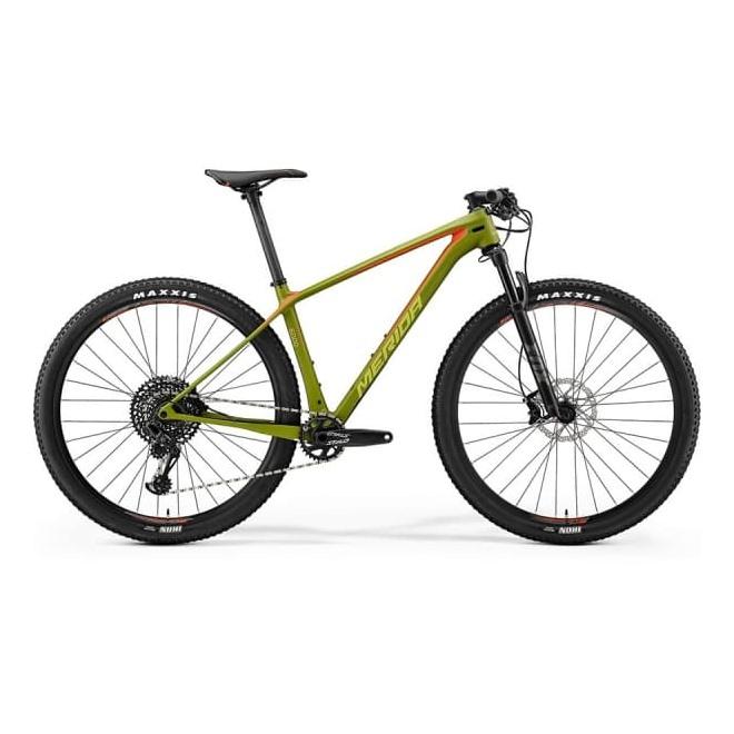 Велосипед Merida Big Nine 6000 Matt Olive (Signal Red/Lite Brown) 2018, интернет-магазин Sportcoast.ru