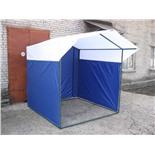 Палатка торговая Митек Домик 3,0х1,9 (разборная) (2 места) (синий/желтый)