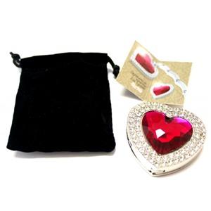 Держатель-крючок для сумок Heart (Сердце) (ярко розовое), Любая женщина придет в восторг от такого подарка!