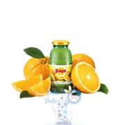 Апельсиновый сок Pago ёмкостью 0,2л - в упаковке 24шт.