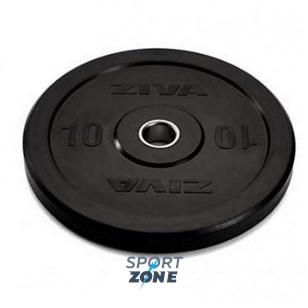 Диск бампированный ZIVA 20 кг серия Pro FЕ (резиновое покрытие) черный