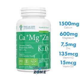 Ca+Mg+Zn+Vitamin K2 D3 90tab