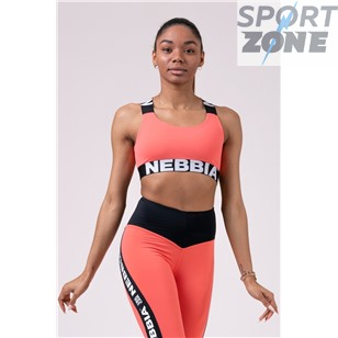 Ne Power Your Hero iconic sports bra цв.персиковый
