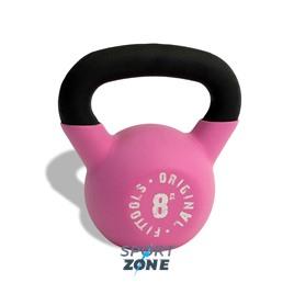Гиря 8 кг обрезиненная розовая