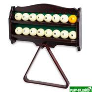 Полка для шаров и треугольника (дуб, темно-коричневая), интернет-магазин товаров для бильярда Play-billiard.ru. Фото 3