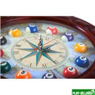 Weekend Часы настенные «Штурвал» 50 см х 50 см, деревянные, интернет-магазин товаров для бильярда Play-billiard.ru. Фото 5