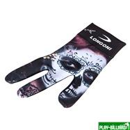 Longoni Перчатка бильярдная «Longoni Fancy Skull 1» правая, интернет-магазин товаров для бильярда Play-billiard.ru. Фото 1