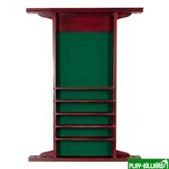 Киевница навесная «Classic» на 4 кия (сосна, махагон, 149 х 85 х 9,5 см), интернет-магазин товаров для бильярда Play-billiard.ru