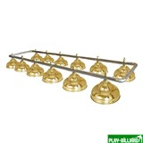 Weekend Лампа на двенадцать плафонов «Ravena» (серебристая штанга, золотой плафон D38см), интернет-магазин товаров для бильярда Play-billiard.ru