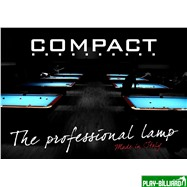 """Лампа плоская люминесцентная """"Longoni Compact"""" (черная, бирюзовый отражатель, 247х31х6см), интернет-магазин товаров для бильярда Play-billiard.ru. Фото 2"""