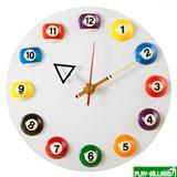 Weekend Часы настенные «12 шаров» D20,5 см (белые), пластик, интернет-магазин товаров для бильярда Play-billiard.ru