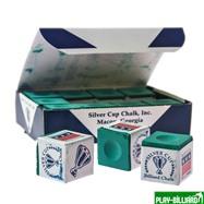 Weekend Мел «Silver Cup» (12 шт) зеленый, интернет-магазин товаров для бильярда Play-billiard.ru. Фото 1