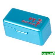 Ball Teck Мел «Ball teck PRO II» (2 шт, в бирюзовой металлической коробке) синий, интернет-магазин товаров для бильярда Play-billiard.ru. Фото 4