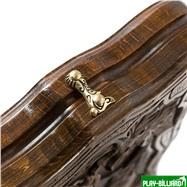 """Нарды резные """"Всадник"""" с ручкой, Haleyan, интернет-магазин товаров для бильярда Play-billiard.ru. Фото 6"""