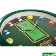 Weekend Часы настенные «12 шаров» D30 см (зеленые), пластик, интернет-магазин товаров для бильярда Play-billiard.ru. Фото 4
