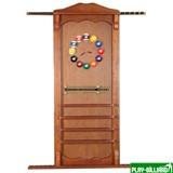 Weekend Киевница навесная с полкой для шаров (орех, 137 х 99 х 8 см), интернет-магазин товаров для бильярда Play-billiard.ru