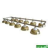 Weekend Лампа на двенадцать плафонов «Crown» (серебристая штанга, золотистый плафон D38см), интернет-магазин товаров для бильярда Play-billiard.ru