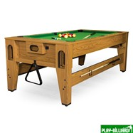 DBO Cтол-трансформер «Twister» 3 в 1  (бильярд, аэрохоккей, настольный теннис, 217 х 107,5 х 81 см, дуб), интернет-магазин товаров для бильярда Play-billiard.ru. Фото 2