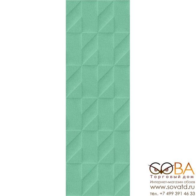 Плитка Marazzi  Outfit Turquoise Struttura Tetris 3D 25x76 купить по лучшей цене в интернет магазине стильных обоев Сова ТД. Доставка по Москве, МО и всей России