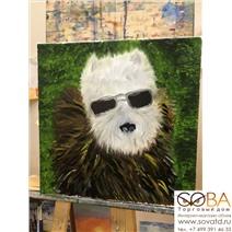 Портрет собаки в мехах купить по лучшей цене в интернет магазине стильных обоев Сова ТД. Доставка по Москве, МО и всей России