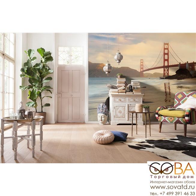 Фотообои Komar Golden Gate артикул XXL4-054 размер 368 x 248 cm площадь, м2 9,1264 на флизелиновой основе купить по лучшей цене в интернет магазине стильных обоев Сова ТД. Доставка по Москве, МО и всей России