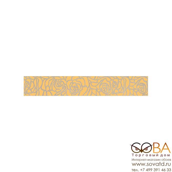 Бордюр Serenity Rosas  коричневый 66-03-15-1349 6х40 купить по лучшей цене в интернет магазине стильных обоев Сова ТД. Доставка по Москве, МО и всей России