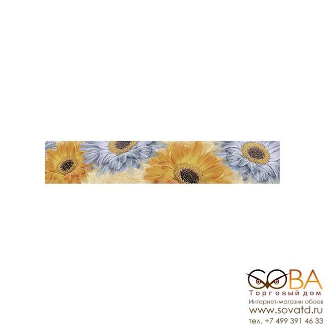 Бордюр Gerbera  многоцветный (GB1J451DT) 8x44 купить по лучшей цене в интернет магазине стильных обоев Сова ТД. Доставка по Москве, МО и всей России