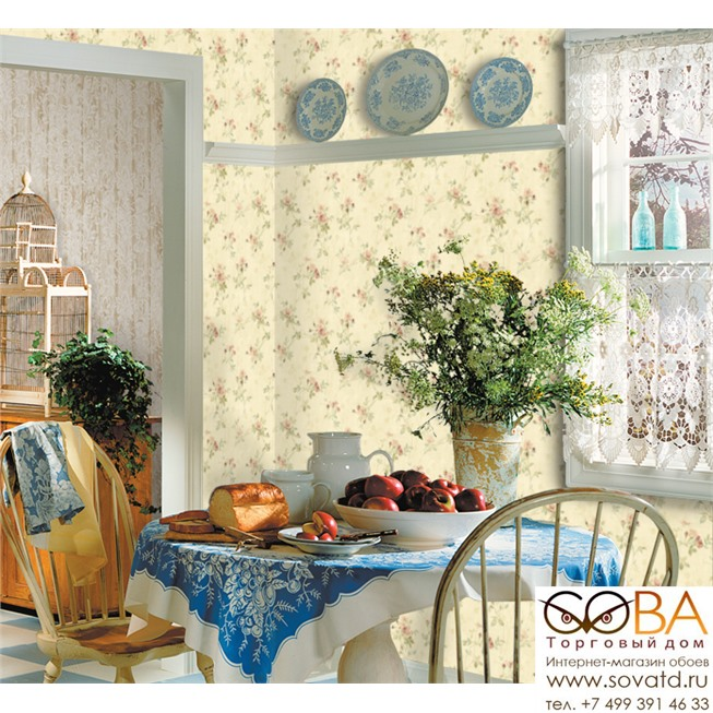 Обои Seabrook CY10907 Garden Diary купить по лучшей цене в интернет магазине стильных обоев Сова ТД. Доставка по Москве, МО и всей России