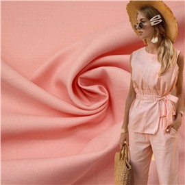 Конопляная ткань розового цвета №14