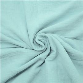 Муслин мятно-голубого цвета