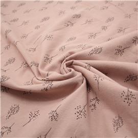 Фланель мелкие веточки на розовом (утепленная)