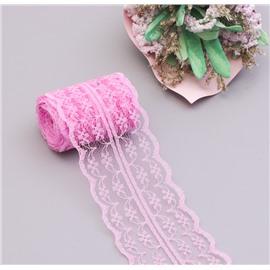 Розовое ажурное кружево 4,2 см
