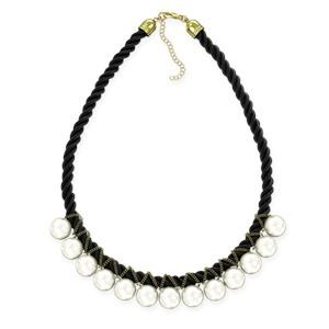 Ожерелье - жемчуг на черной нити JEW NECK BLACK STRING