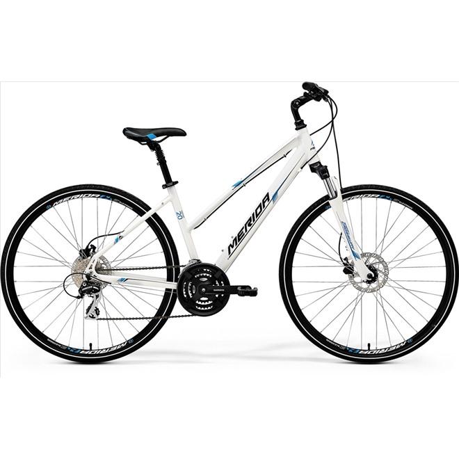 Велосипед Merida Crossway 20D-LADY White/Blue/Black (2017), интернет-магазин Sportcoast.ru