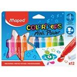 Фломастеры смываемые Maped Color'Peps Jumbo Mini 12 цветов 846612