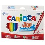 Фломастеры суперсмываемые Carioca Joy 24 цвета 40615