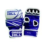 Перчатки для MMA-0055L, кожа, синие/белые