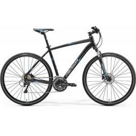 Велосипед Merida Crossway 500 Matt Black/Blue/Grey (2017), интернет-магазин Sportcoast.ru