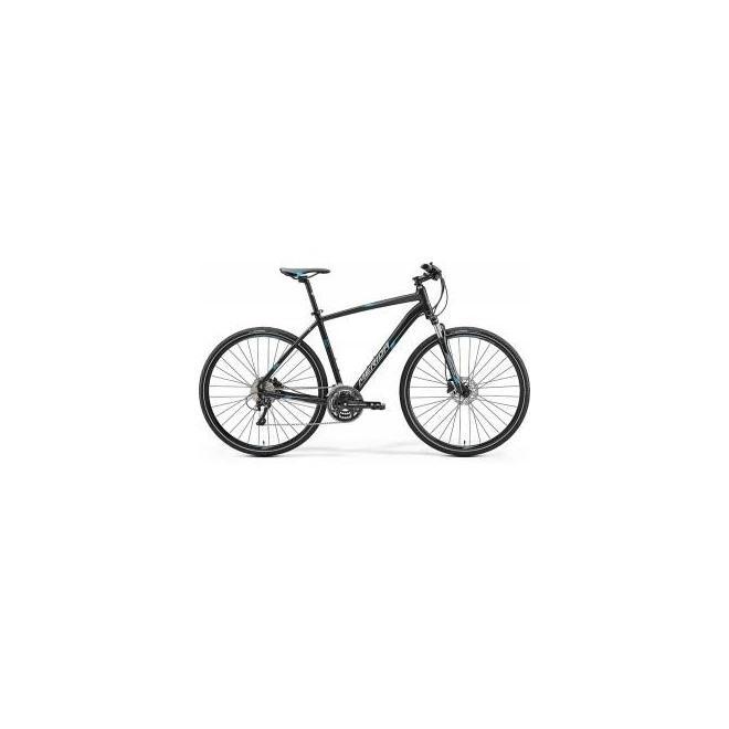 Велосипед Merida Crossway 500 Matt Black/Blue/Grey (2017), интернет-магазин Sportcoast.ru