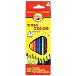 Карандаши цветные трехгранные KOH-I-NOOR Triocolor 3,2 мм 18 цветов 3133018004KSRU