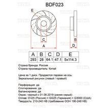 BDF023. Передняя ось. Перфорация + слоты