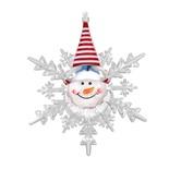 Фигурка светодиодная Vegas Снеговик с батарейкой, на присоске 10х12 см, 24V 55054