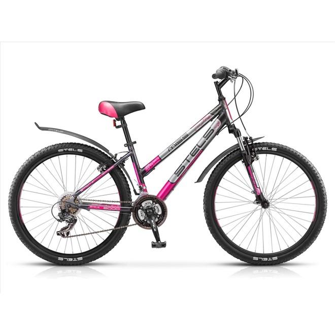 Велосипед Stels Miss-6000 V V010 Серый/Розовый/Серебристый, интернет-магазин Sportcoast.ru