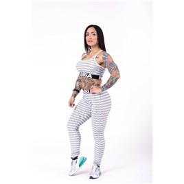 Ne Boho Style 3D pattern leggings цв.светло-серый