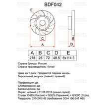 BDF042. Передняя ось. Перфорация + слоты
