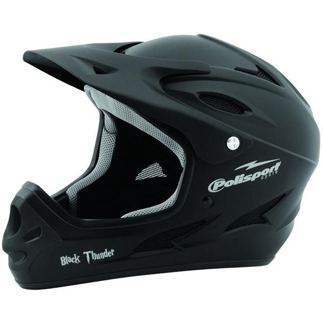 Шлем велосипедный Polisport Black Thunder Downhill, интернет-магазин Sportcoast.ru