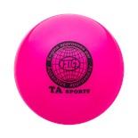 Мяч для художественной гимнастики RGB-101, 15 см, розовый